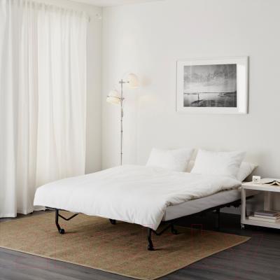 Диван-кровать Ikea Ликселе Левос 391.498.92 (Эббарп черный/белый) - в разложенном виде