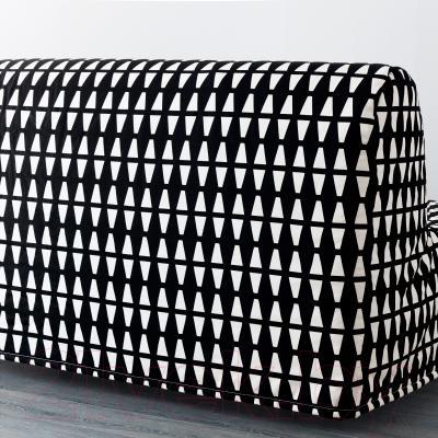 Диван-кровать Ikea Ликселе Левос 391.498.92 (Эббарп черный/белый) - вид сзади