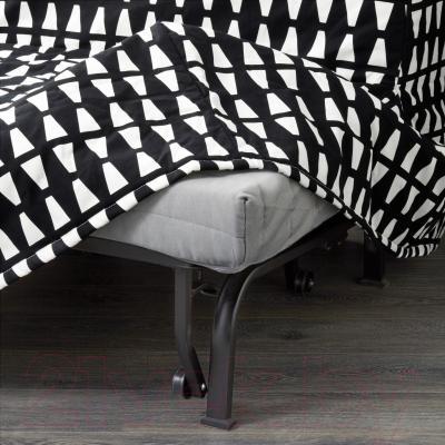 Диван-кровать Ikea Ликселе Левос 391.498.92 (Эббарп черный/белый) - съемный чехол