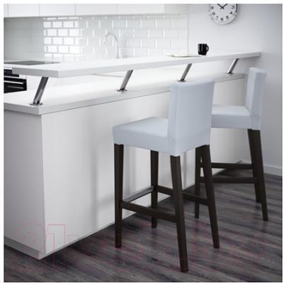 Стул Ikea Хенриксдаль 391.623.41 (коричнево-черный/синий/белый)