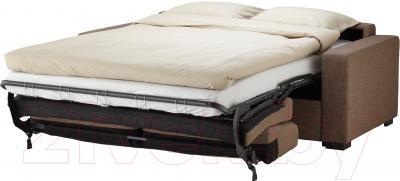 Диван-кровать Ikea Клагсторп/Ласеле 391.720.62 (светло-коричневый) - в разложенном виде