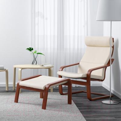 Кресло Ikea Поэнг 398.305.87 (коричневый/светло-бежевый)