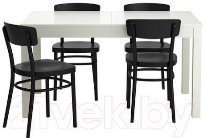 Обеденная группа Ikea Бьюрста / Идольф 199.320.87 (белый/черный)