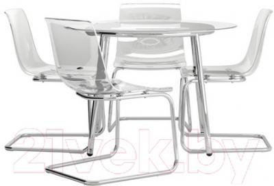 Обеденная группа Ikea Сальми / Тобиас 398.857.25 (стекло/прозрачный)