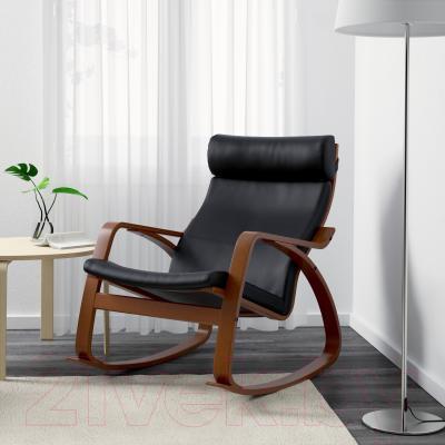 Кресло-качалка Ikea Поэнг 399.008.44 (коричневый/черный)