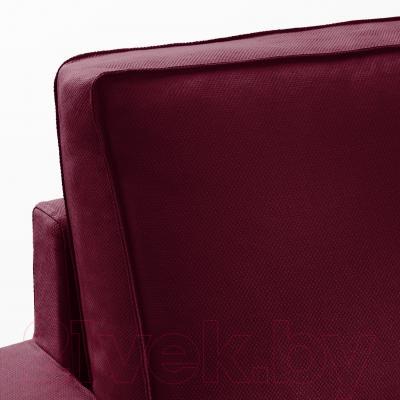 Угловой диван-кровать Ikea Виласунд 399.071.95 (Дансбу красно-сиреневый)