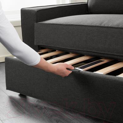 Диван-кровать Ikea Виласунд 399.072.18 (темно-серый) - в процессе раскладки