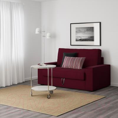 Диван-кровать Ikea Виласунд 399.072.23 (красно-сиреневый) - в интерьере