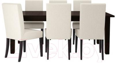 Обеденная группа Ikea Стурнэс / Хенриксдаль 399.173.35 (коричнево-черн./Линнерид неокр.)