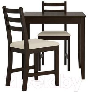 Обеденная группа Ikea Лерхамн 490.071.80 (черно-коричневый/бежевый)