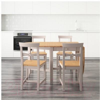 Обеденная группа Ikea Гэмлеби 490.072.17 (светлая морилка антик/серый)