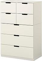 Комод Ikea Нордли 490.212.04 (белый) -