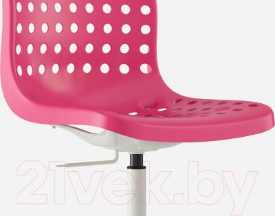 Стул офисный Ikea Сколберг/Споррен 490.236.08 (розовый/белый) - вид спереди