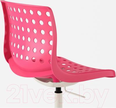 Стул офисный Ikea Сколберг/Споррен 490.236.08 (розовый/белый) - вид сзади