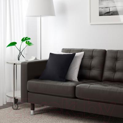 Диван Ikea Ландскруна 490.317.50 (темно-коричневый/металл) - в интерьере