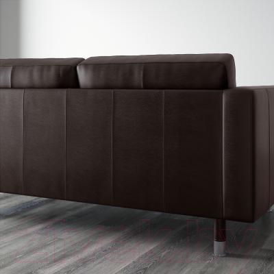 Диван Ikea Ландскруна 490.317.50 (темно-коричневый/металл) - вид сзади