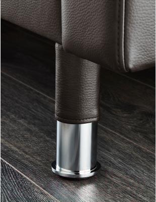 Диван Ikea Ландскруна 490.317.50 (темно-коричневый/металл) - хромированные ножки