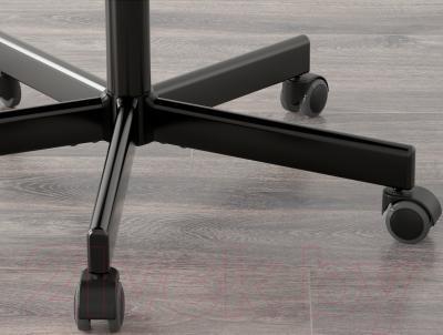 Стул офисный Ikea Вогсберг/Споррен 290.066.81 (белый/черный) - колесики автоматически блокируются, когда стул не используется