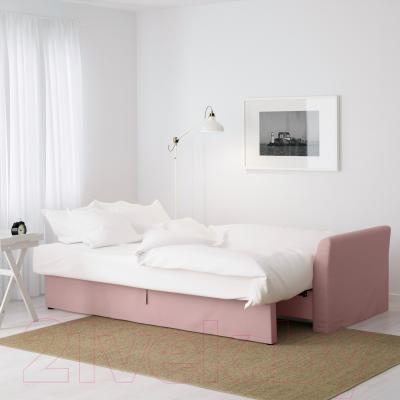 Диван-кровать Ikea Хольмсунд 490.486.56 (Ранста светло-розовый) - в разложенном виде