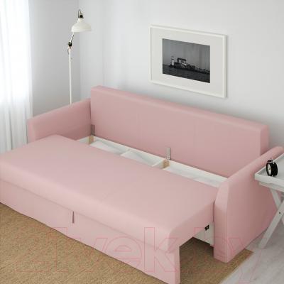 Диван-кровать Ikea Хольмсунд 490.486.56 (Ранста светло-розовый) - ящик для хранения белья