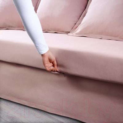 """Диван-кровать Ikea Хольмсунд 490.486.56 (Ранста светло-розовый) - механизм трансформации """"еврокнижка"""""""
