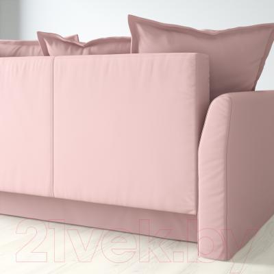 Диван-кровать Ikea Хольмсунд 490.486.56 (Ранста светло-розовый) - вид сзади