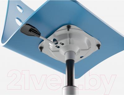 Стул офисный Ikea Юлес 490.912.49 (синий/серебристый) - регулировка высоты сиденья