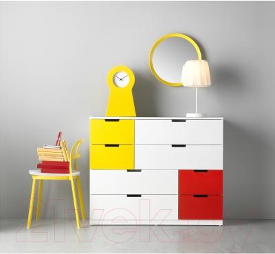 Комод Ikea Нордли 491.224.82 (белый/красный/желтый)