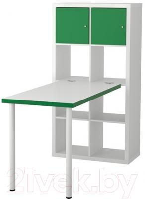 Компьютерный стол Ikea Каллакс 491.230.47 (белый/зеленый)