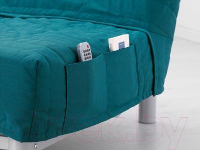 Диван-кровать Ikea Бединге Левос (Книса бирюзовый)