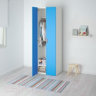 Шкаф Ikea Стува 491.335.60 (белый/синий)