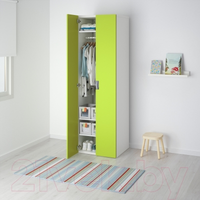 Шкаф Ikea Стува 491.336.59 (белый/зеленый)