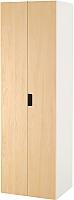 Шкаф Ikea Стува 491.336.78 (белый/береза) -