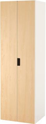Шкаф Ikea Стува 491.336.78 (белый/береза)