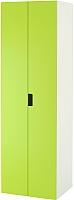 Шкаф Ikea Стува 491.338.19 (белый/зеленый) -