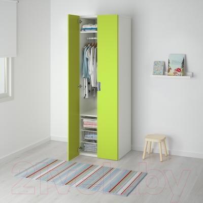 Шкаф Ikea Стува 491.338.19 (белый/зеленый)