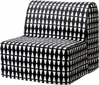Кресло-кровать Ikea Ликселе Мурбо 491.342.01 (Эббарп черный/белый) -