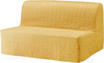 Диван-кровать Ikea Ликселе Ховет 491.499.24 (Валларум желтый)
