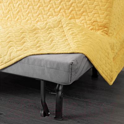 Диван-кровать Ikea Ликселе Ховет 491.499.24 (Валларум желтый) - съемный чехол