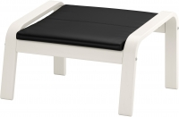 Банкетка Ikea Поэнг 491.632.03 (белый/черный) -