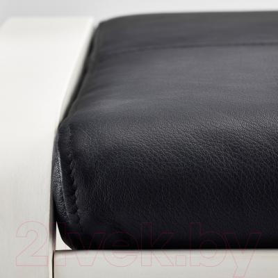 Банкетка Ikea Поэнг 491.632.03 (белый/черный)