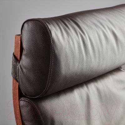 Кресло Ikea Поэнг 498.291.21 (коричневый/темно-коричневый)