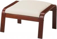 Банкетка Ikea Поэнг 498.305.44 (коричневый/светло-бежевый) -