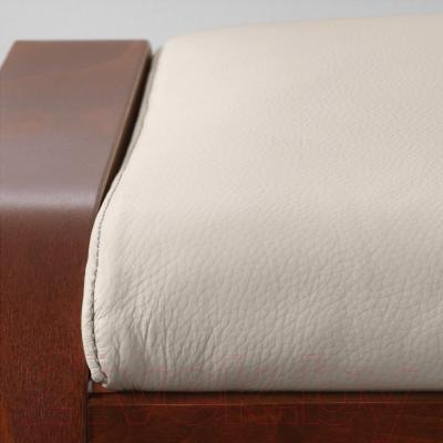 Банкетка Ikea Поэнг 498.305.44 (коричневый/светло-бежевый)