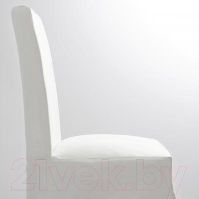 Стул Ikea Хенриксдаль 498.500.61 (коричнево-черный/белый)