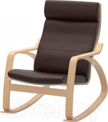 Кресло-качалка Ikea Поэнг 498.610.07 (березовый шпон/темно-коричневый)