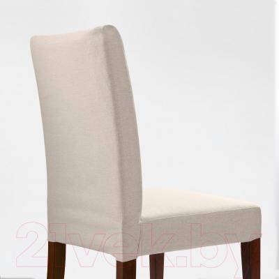 Стул Ikea Хенриксдаль 498.742.17 (коричневый/Линнерид неокрашенный)