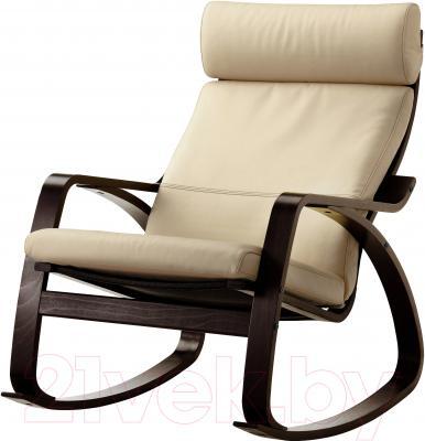Кресло-качалка Ikea Поэнг 199.008.64 (черно-коричневый/светло-бежевый)