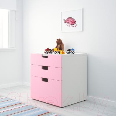 Комод Ikea Стува 290.142.14 (розовый)
