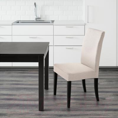 Стул Ikea Хенриксдаль 498.745.09 (коричнево-черн./Линнерид неокр.)